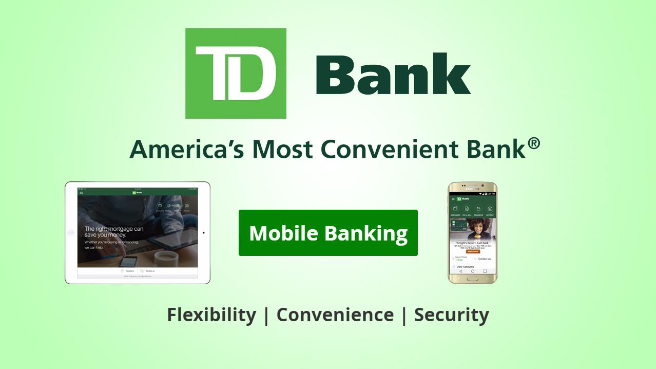 Safe And Secure Online Banking From Td Bank Of America Wiring Number