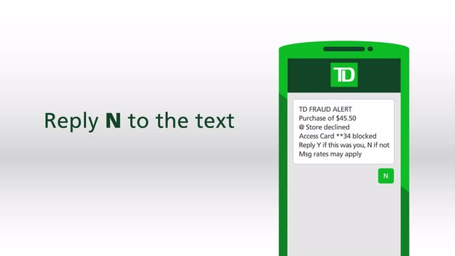 Get td access card with fraud alert td canada trust colourmoves Images
