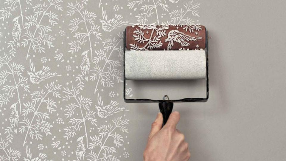 Wallpaper Vs Paint these clever rollers let you paint fancy patterns with no sweat