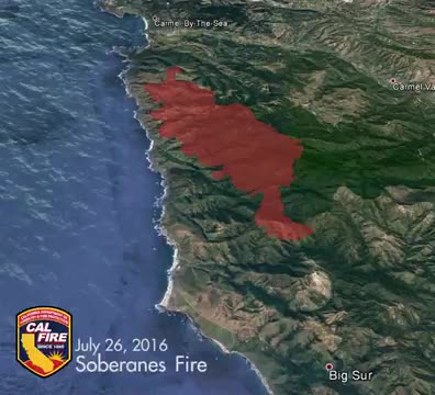 Map Of Big Sur Fire on