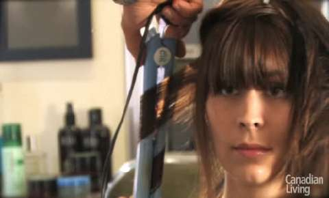 How to create soft curls with your straight iron