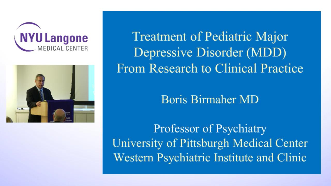 Child & Adolescent Psychiatry Grand Rounds | NYU Langone Health