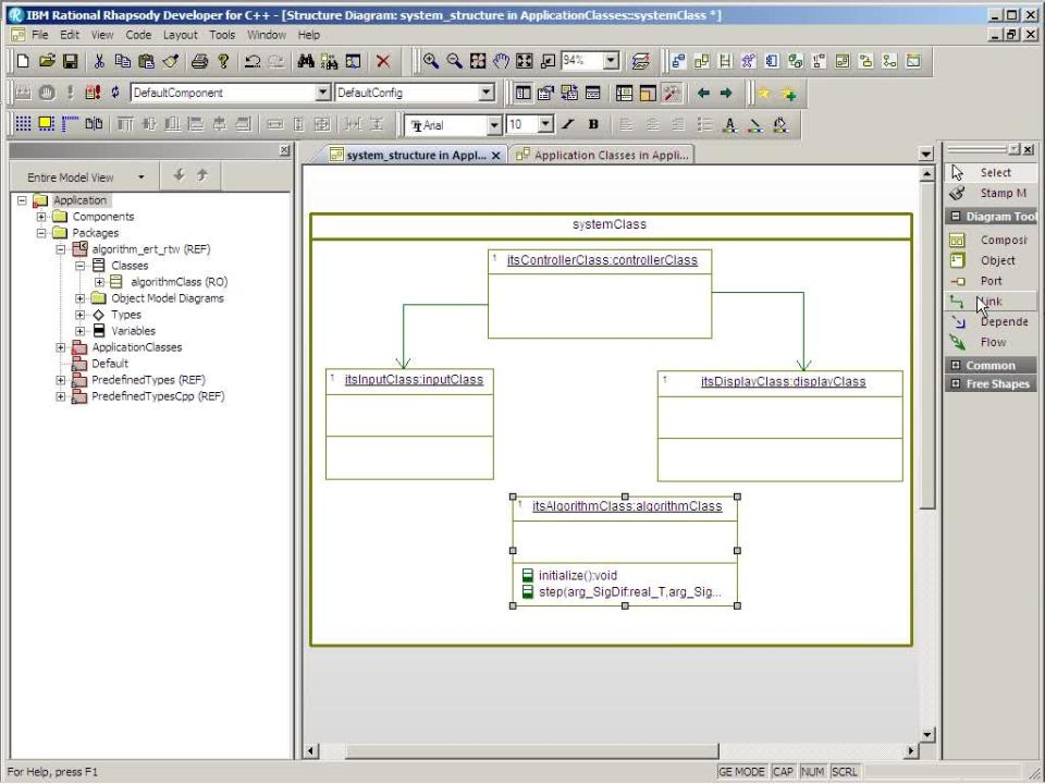 Hybrid Software Development with Simulink and UML Tools - Video