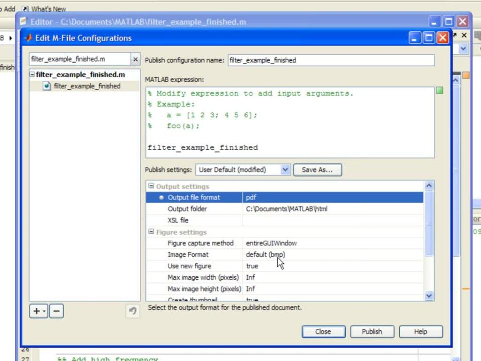 New Publishing to PDF Feature in R2009b - Video - MATLAB