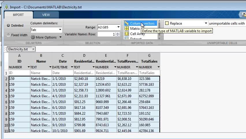 Import Tool Enhancements for Text Files - Video - MATLAB