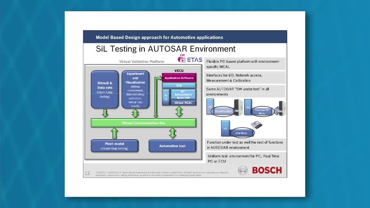 Model-Based Design Approach for Automotive Applications