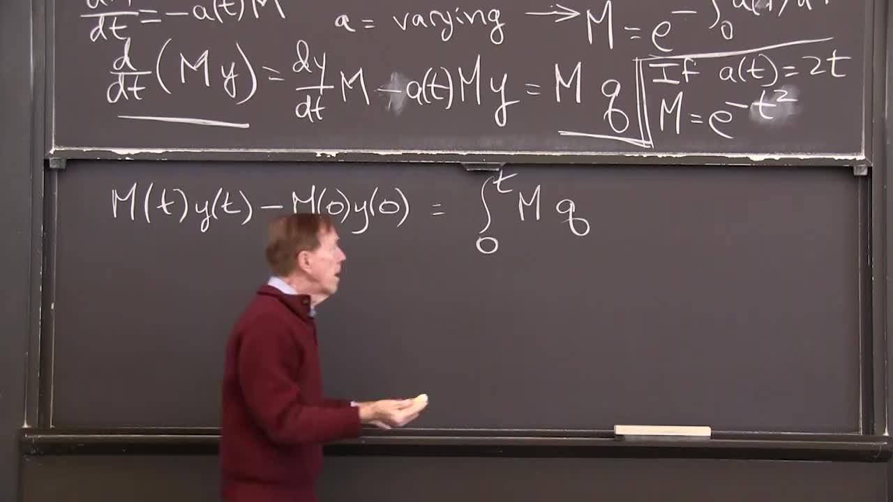 Differential Equations and Linear Algebra, 1 6: Integrating Factor