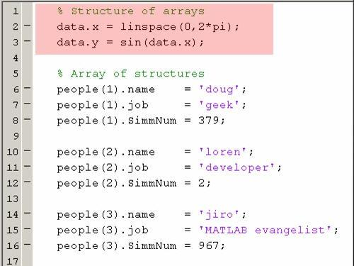 Array of Structures vs  Structures of Arrays - Video - MATLAB