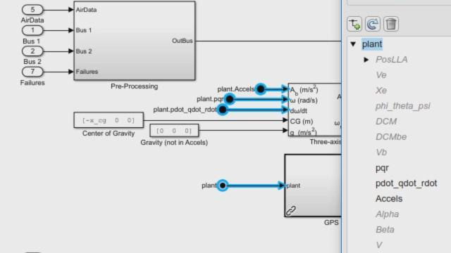 Reduced Bus Wiring: Bus Element Ports Video - MATLAB & Simulink on