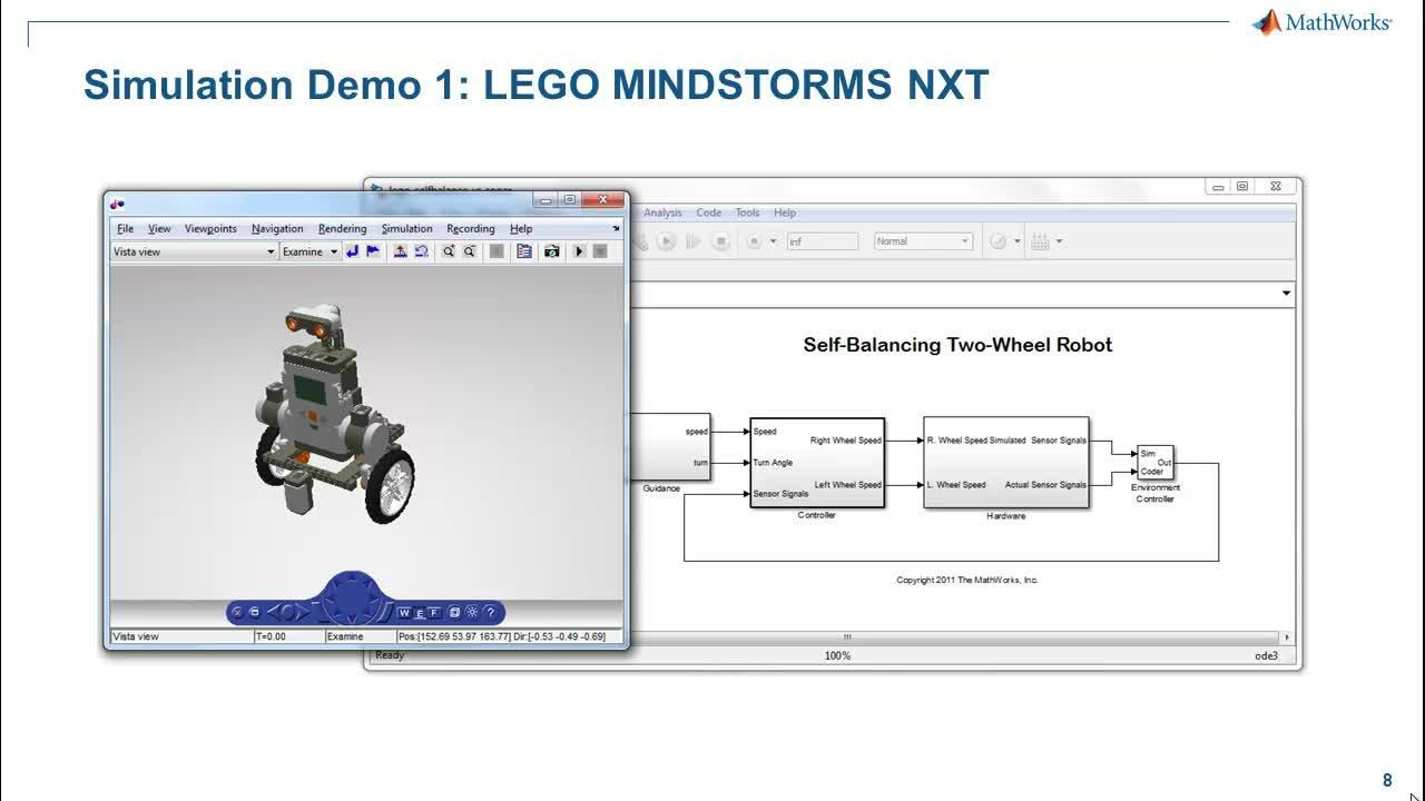Using Simulink for Control Algorithms with LEGO - Video