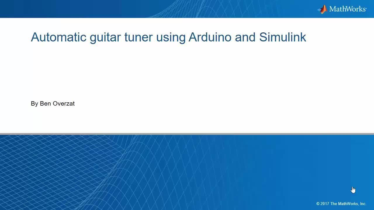 Automatic Guitar Tuner Using Simulink And Arduino Video Matlab