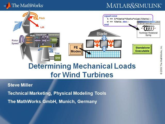 Determining Mechanical Loads for Wind Turbines - Video - MATLAB