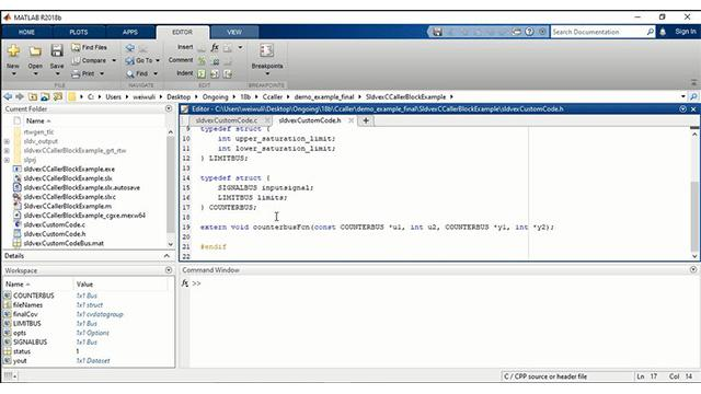 C Caller Block Video - MATLAB & Simulink