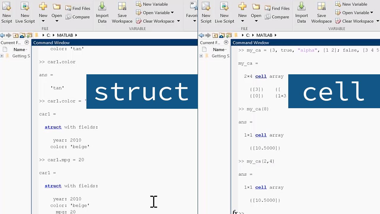 Using Structures and Cell Arrays   MATLAB