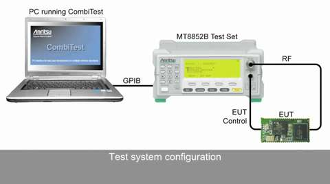 Using CombiTest and the MT8852B to run Bluetooth BR / EDR / BLE Tests