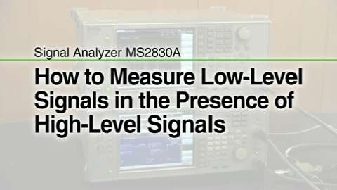 How to Measure Low Level Signals