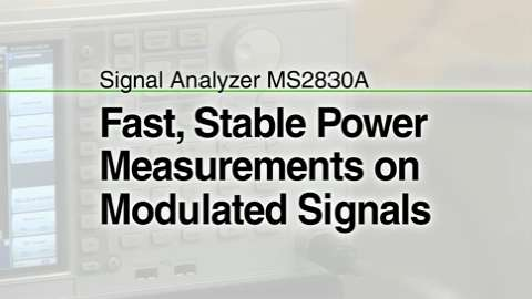 Fast, Stable Power Measurement of Modulation Signals