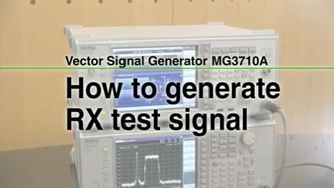How to generate Rx test signal