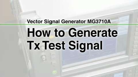 How to Generate Tx Test Signal