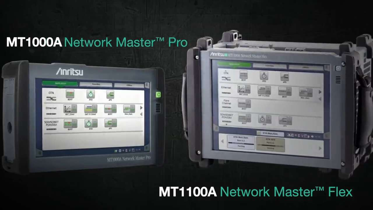 The MT1100A Network Master Flex and MT1000A Network Master Pro-1