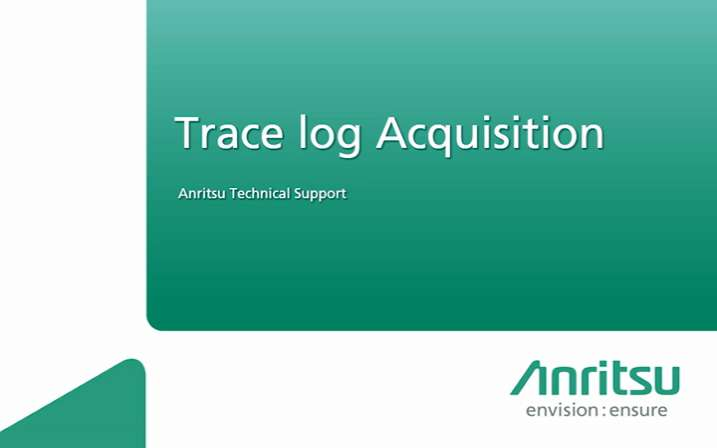 MD8475A-Trace Log Acquisition