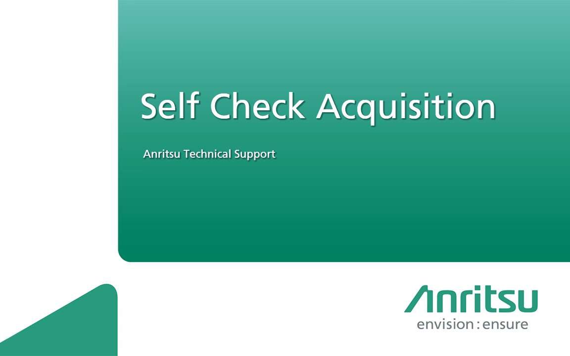 MD8475A-SelfCheckAcquisition