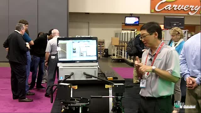 Demonstrating ShockLine E-band VNA Solution at IMS 2016