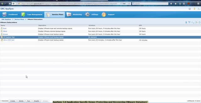Video: AppSync Protecting and Recovering VMware Datastores