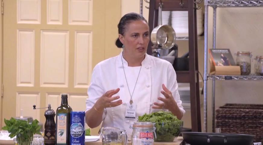 In this video (4 of 4 in the series), Chef Terese Esperas of the Sacramento Natural Foods Co-op prepares a flavorful Sautéed Chard with Orange dish.