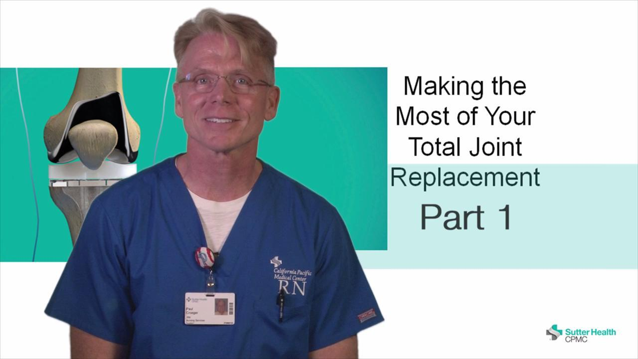 Part One of this series helps you prepare yourself and your home for your total joint replacement procedure.